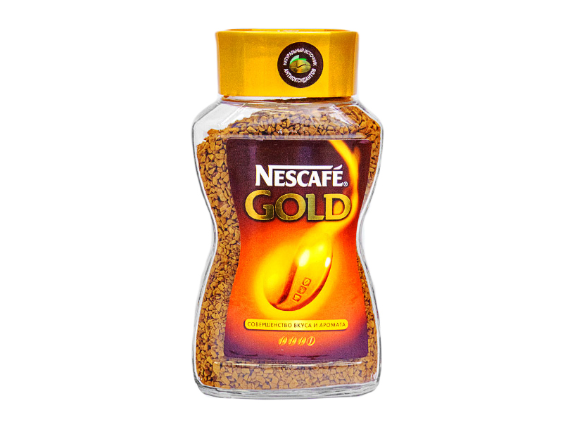 Кофе «NESCAFE GOLD»,  растворимый, кристаллы  95 гр. (стекло)1/12 (арт 11.10)