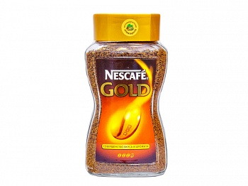 Кофе «NESCAFE GOLD», растворимый, кристаллы 190  гр. (стекло) 1/6 (арт 11.11)